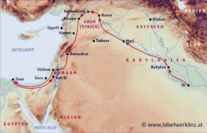 Testament altes landkarte israel Karte Israel