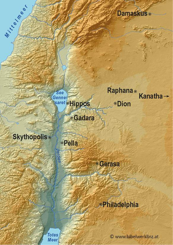Israel bibel landkarte Karten