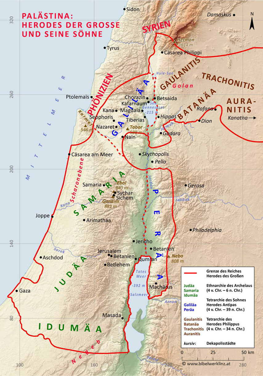 Landkarte Israel Altes Testament - Top Sehenswürdigkeiten